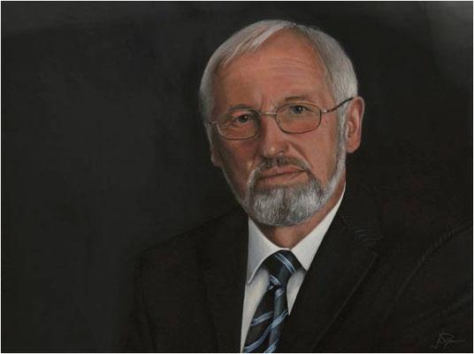 Volkmar Weber 2000-2009 Oberbürgermeister von Überlingen, Original Öl, 60 x 80 cm ausgestellt im Rathaus Überlingen