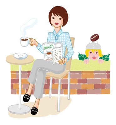 【ムック/2014】「1日3杯が効くコーヒーダイエット」(主婦の友社)キャラ作成・表紙・本文イラスト