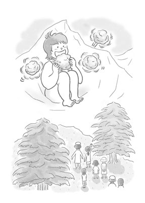 【書籍/2014】「どうぶつえんのふしぎなワールドカップ」(あるまじろ書房)本文挿絵
