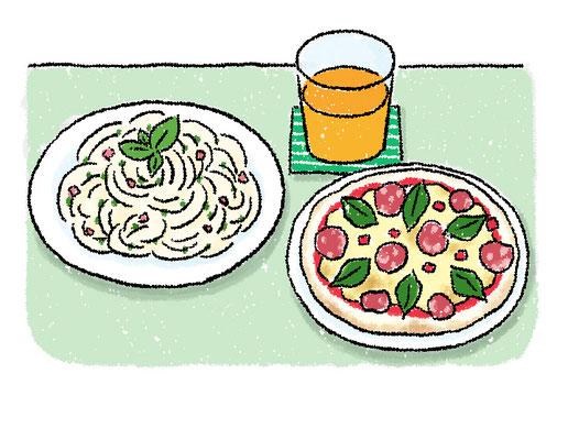 【書籍/2019】「肉食で糖質オフ大成功!」(KADOKAWA)本文イラスト