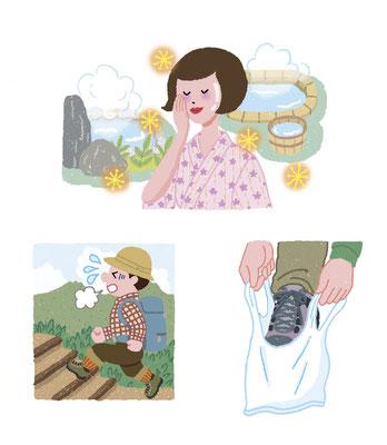 【雑誌】「大人ザテレビジョン」(角川マガジンズ〈現・KADOKAWA〉)記事イラスト