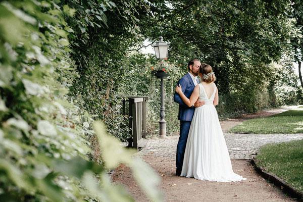 Brautpaar im Fürstengarten Lauenburg
