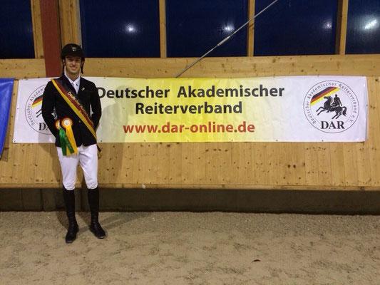 Deutscher Hochschulmeister im Springen, Felix Stein, Karlsruhe 2014