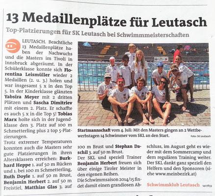 Bezirksblätter v. 15./16. Juli 2015