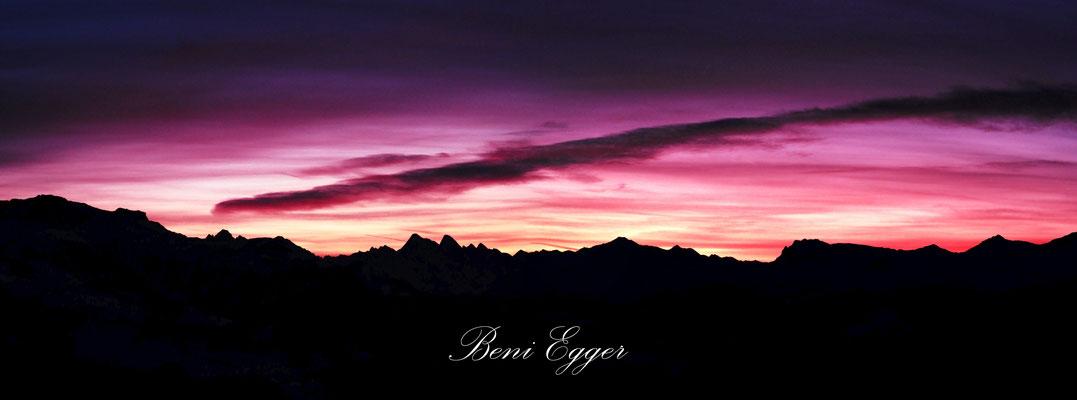 Morgenrot über der Silvretta