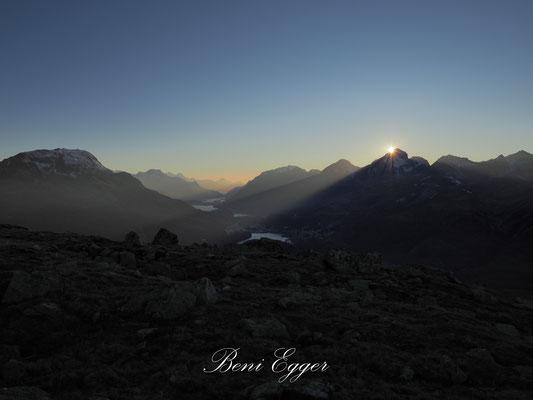 Sonnenuntergang über dem Piz Julier