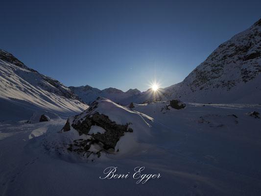 Sonnenaufgang über dem Piz Bernina