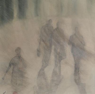 URBAN CONTACT SERIE II, ACRYL AUF LEINWAND, 50X50 VERKAUFT