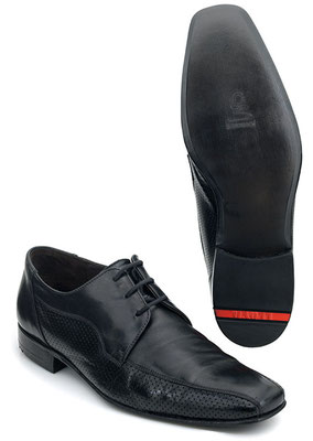 LLOYD-Schuh mit Gummiabsatz, geklebter 3/4tel Sohle und Sohlenfinish.