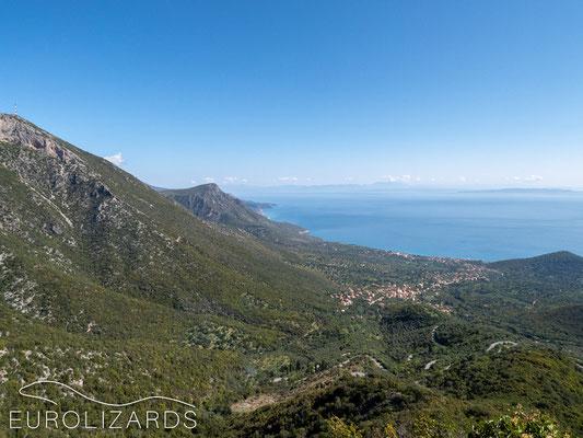 The scenic coast at Leonidi