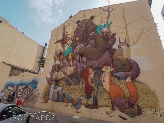 "Saragossa street art: ""Tribute to Iberian Wildlife"" by Dulk"