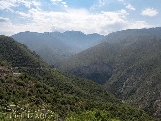 View to Parnon peak