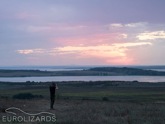 sundown with photographer