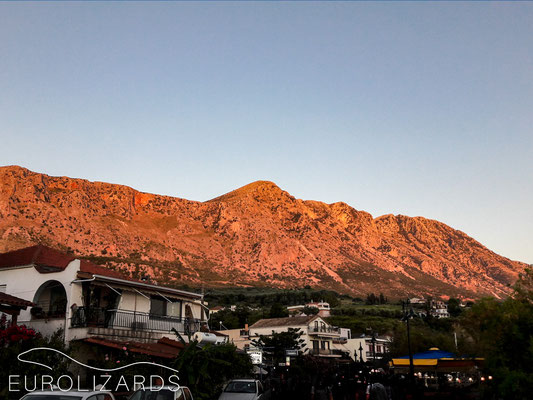 """Alpenglow"" at Palairos"
