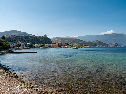 The shallow waters of Kastellorizo