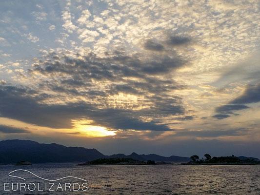 Sunrise over the Turkish mainland