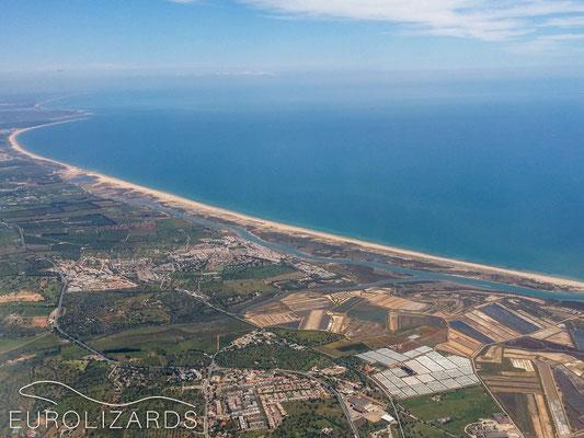 Approaching Faro Airport