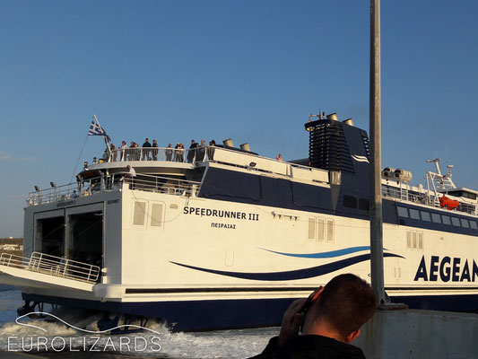 The ferry to Piraeus
