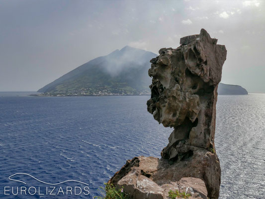 View to smoking Stromboli