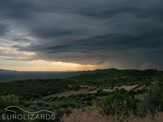 Thunderstorm over Peloponnese…