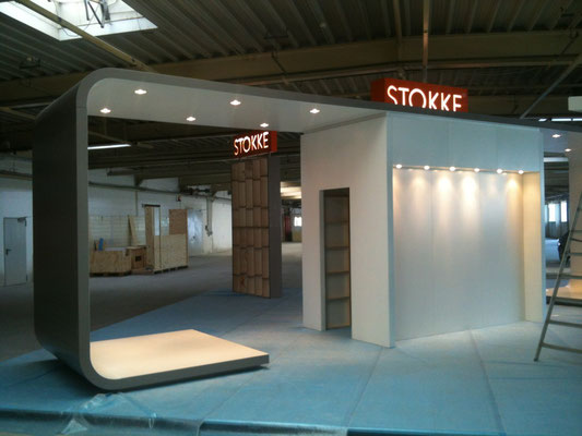 messestand stokke - testaufbau