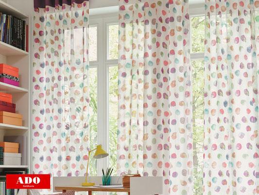 bunte Gardinen und Vorhänge, bedruckte Gardinen, lichtdurchlässige Vorhänge für Kinderzimmer