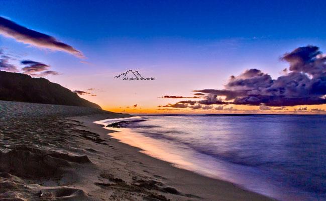 """Bild: """"Sonnenuntergangsschimmer"""", Nord-Westküste Oahu"""