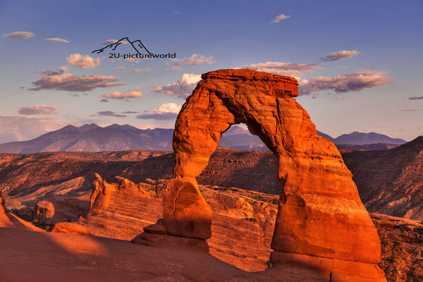 "Bild: ""delicate arch at sunset"", the arches NP, Utah"