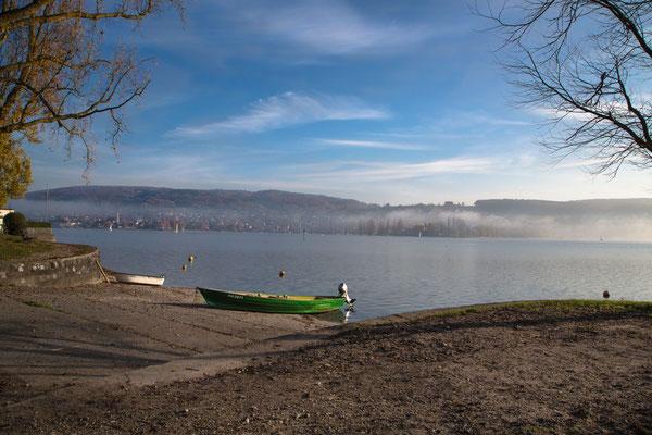 """Bild: Bodensee bei Hemmenhofen Deutschland, """"herbstliche Ruhe"""", www.2u-pictureworld.de"""