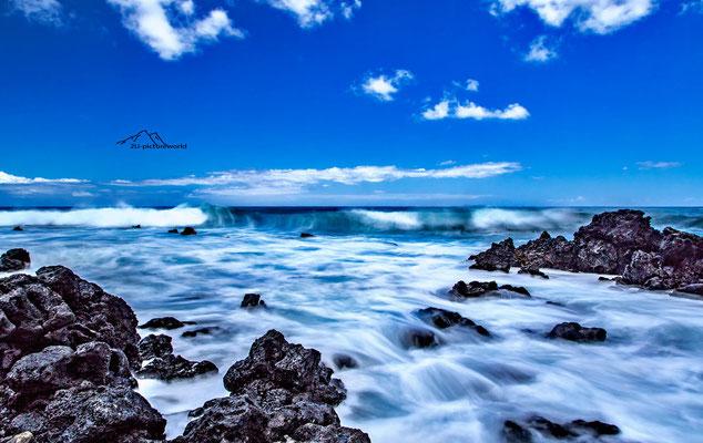 """Bild: """"Wellensog"""" Oahu Ostküste"""