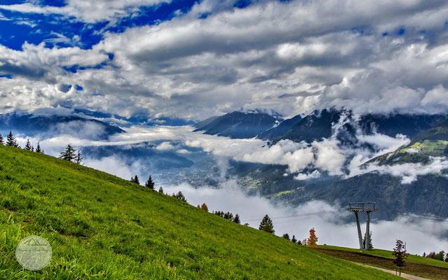 """Bild: Bergstation der Taser Seilbahn in Suedtirol, """"Wolkental"""", www.2u-pictureworld.de"""