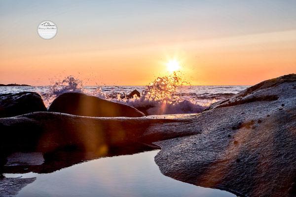 "Bild: Utakleiv Lofoten Norwegen, ""sunsetdrops"", www.2u-pictureworld.de"