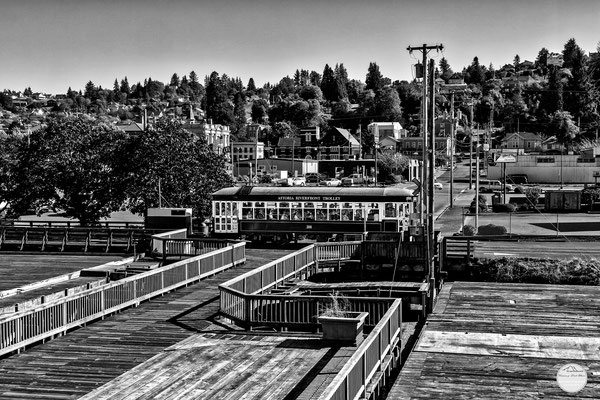 "Bild: historic tram of Astoria, Oregon, ""Astoria tram""; www.2u-pictureworld.de"