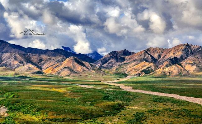 """Bild: """"Weg in eine andere Welt, Denali NP, Alaska Range"""