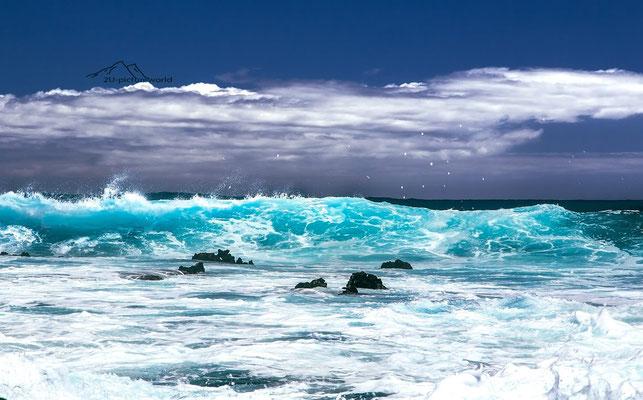 Bild: Wellenschauspiel, Oahu Ostküste