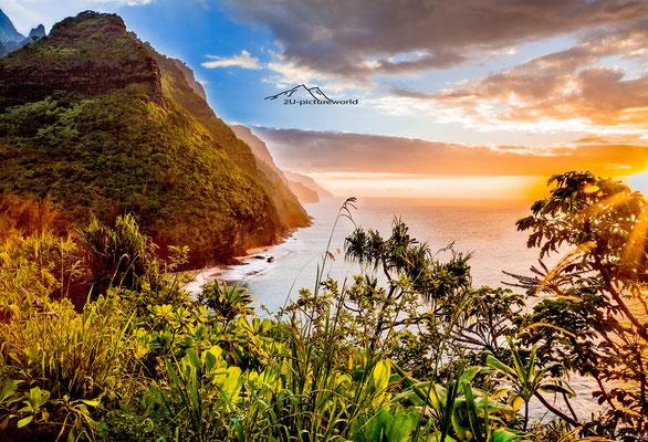 "Bild: ""Sonnenuntergang Na Pali Coast, Kauai"