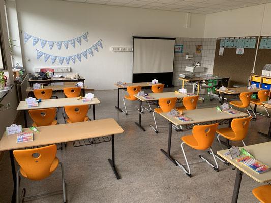 Klassenraum der 1b