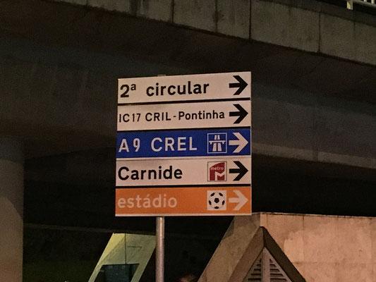 Der Weg zum Stadion ist bestens ausgeschildert!