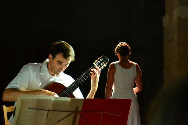 Frédéric Costantino et la mezzo soprano Aude Extrèmo