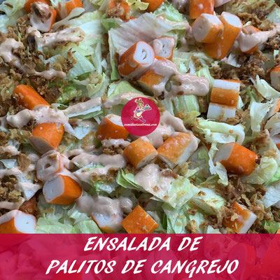 ENSALADA DE PALITOS DE CANGREJO