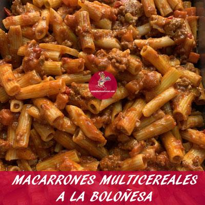 MACARRONES MULTICEREALES A LA BOLOÑESA