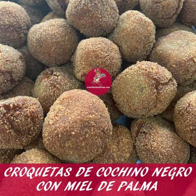CROQUETAS DE COCHINO NEGRO CON MIEL DE PALMA