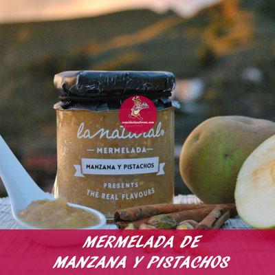 MERMELADA DE MANZANA Y PISTACHOS