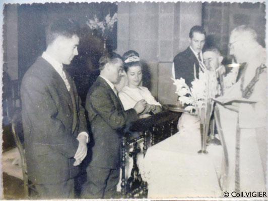 Mariage d'Irène et Georges à St-Junien (c) Coll. VIGIER
