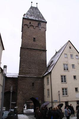 不思議な屋根飾りの塔 ウルム