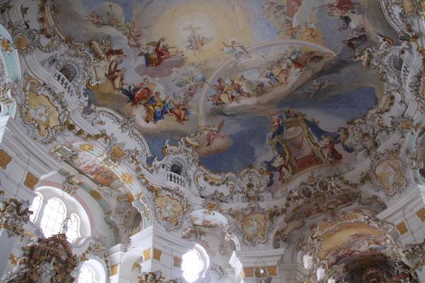 世界遺産 ヴィ―ス教会 ヴィ―ス=草原 欧州一美しいロココ様式の教会 ※許可を得ての撮影