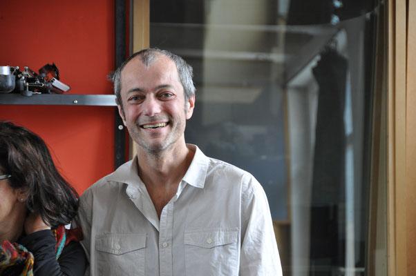 "Studio mécanique lors de l'enregistrement de notre premier CD ""su e giù"" en 2013"