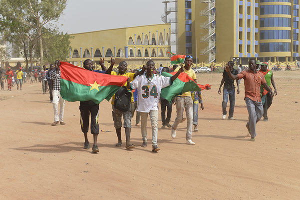 Supporters des Étalons. Équipe nationale de football du Burkina Faso