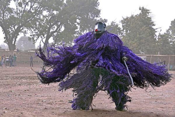 Masque fibres à tête de singe de Kouka (Burkina Faso)