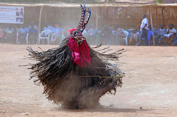 Masque fibres de Karo (Burkina Faso)